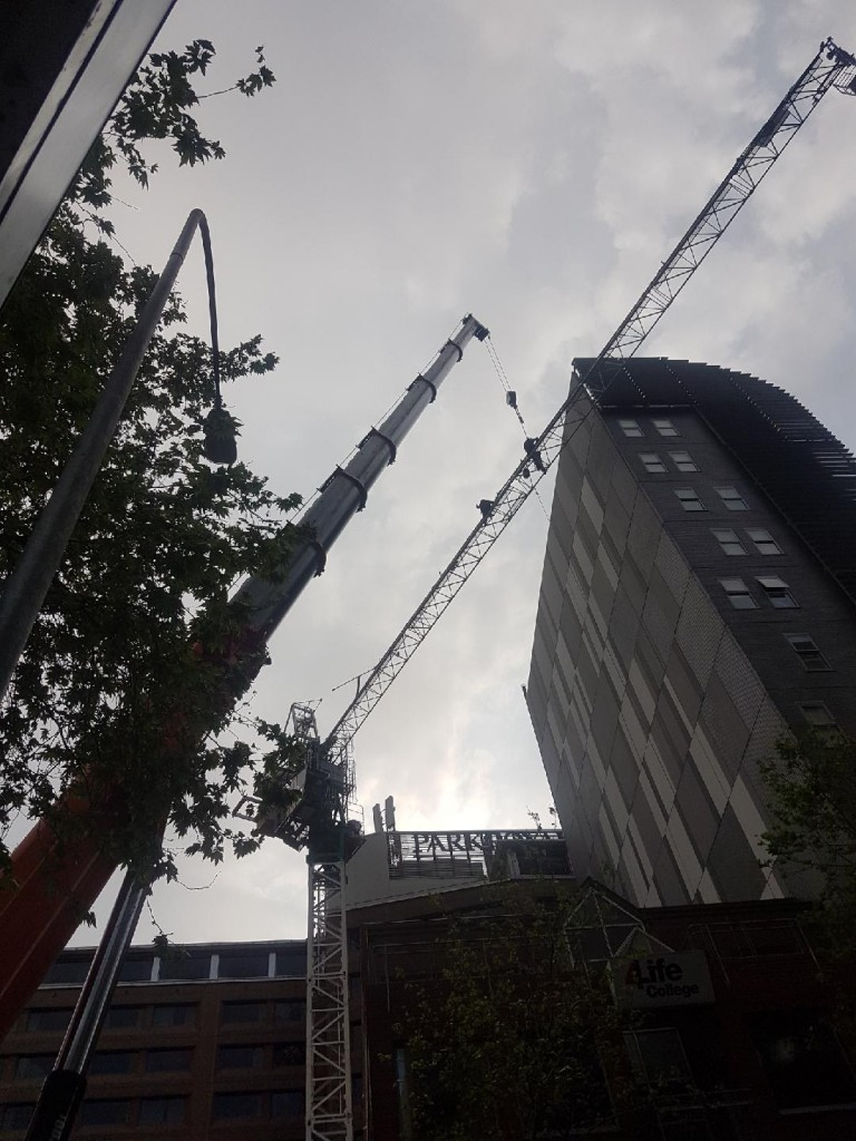 Erection of Tower Crane on the Kaz Tower Project located in Sydney
