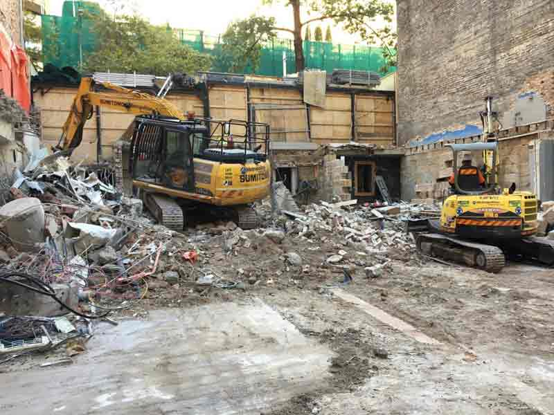 Demolition Works Commence