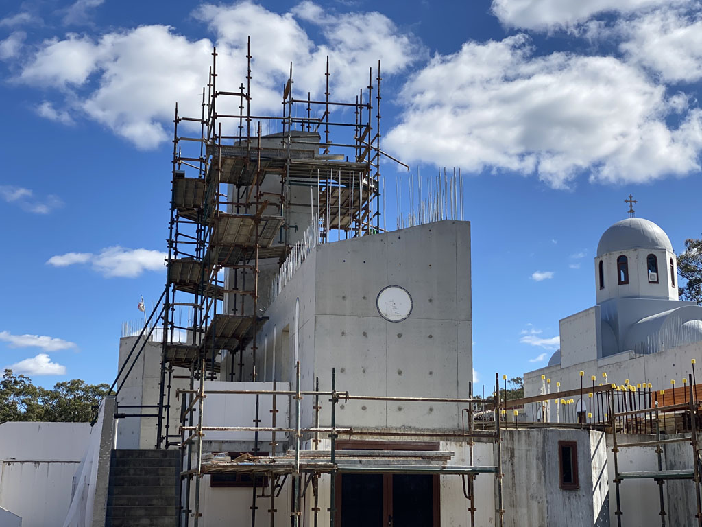 """Holy Cross Monastery Stage 2 """"The Church"""" works progress"""